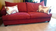 red queen size sleeper sofa